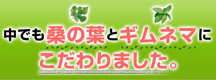 桑の葉とギムネマ
